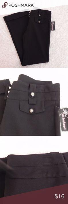 "NWT Joe Benbasset Junior girls pants Joe  Benbasset  New with tag Girls Junior  Black   Dress Pants   Straight Legs With Cuffs  Pockets on Front Only.  Size 7.    Silver Tone Buttons on Pockets. Waist      15""    Rise    8""     Inseam    32"" Joe Benbasset Bottoms"
