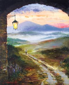 Returning Home by Gleb Goloubetski,  Oil on Canvas, 80cmx65cm