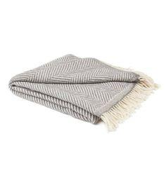 URBANARA Salla blanket/throw - 100% pure New Zealand wool, herringbone weave - cream/grey 130 x 190 cm , http://www.amazon.co.uk/dp/B008DW0UI4/ref=cm_sw_r_pi_dp_iDPJsb1XSVVH2