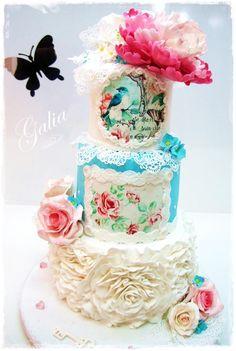 Wedding cake style... SHABBY CHIC