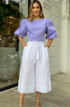 Cute Office Outfits, Casual College Outfits, Casual Fall Outfits, Stylish Outfits, Fashion Pants, Fashion Outfits, Womens Fashion, Iranian Women Fashion, Pantalon Large