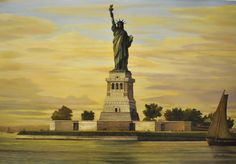 Lady Liberty by John Payne. For more info please call us at 301-881-5977, or email us at info@huckleberryfineart.com. You can also visit our website www.huckleberryfineart.com. John Payne, Statue Of Liberty, Nyc, Website, Lady, Artist, Statue Of Liberty Facts, Statue Of Libery, Artists