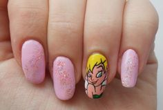 Peter Pan 'Tinkerbell' Nails