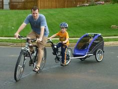 Family Train by svirfamily: What fun! #Bicycle #Tag_a_Long