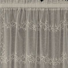 Sheer Divine Lace Tier and Valance