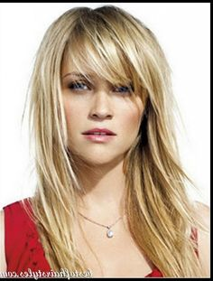 medium hairstyles with bangs for thin hair