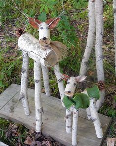 The Reindeer are back!!  Sizes are 14 & 22 Please note Deer stands a little taller with ears.  My son cuts and assemble the deer and I decorate.