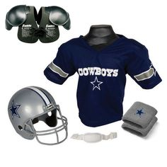 Dallas Cowboys Youth NFL Ultimate Helmet and Helmet and Jersey Set