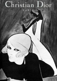 Christian Dior 1967 - Illustration by René Gruau