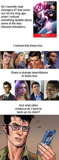 The Doctor, Rose, Captain Jack and Mickey in the Avengers? Fandoms! Unite!