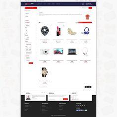 Blendmart - The Multi Shopping PrestaShop Template Ecommerce Website Design, Website Design Layout, Website Design Inspiration, Layout Design, Ecommerce Websites, Page Design, Web Design, Shoe Template, Best Computer