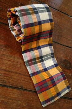 Free Shipping  Yellow Red Green and Blue Plaid by presleypigs, $24.00