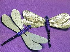 "Punched Tin ""Paper"" Dragonfly Wings, via Flickr."