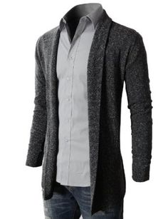 Long Buttonless Cardigan