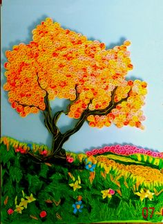 A Journey into Quilling & Paper Crafting: Quilled Tree Landscape Picture Art