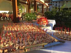 "Cena ""Viaggio nel Gusto"" sul patio #foodlovers #Trentino #food #buffet"