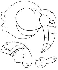 Les Bestioles - Page 5 - AZ Coloriage Vbs Crafts, Bird Crafts, Church Crafts, Halloween Crafts, Paper Crafts, Paper Puppets, Paper Toys, Toucan Craft, Rainforest Activities