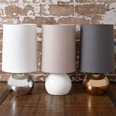 Lincoln lamp, grey/bronze. Freedom furniture