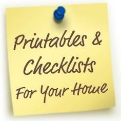 Printables & Checklists To Help You Get Organized