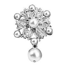 Wedding Style Elegant Silver Plated Rhinestone Brooch(Random... – USD $ 2.99