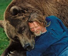 Animal trainer Doug Seus and Bart the Bear. http://www.vitalground.org/about/about-us/animal-ambassadors/bart-the-bear/