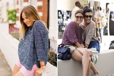 I like the oversized sweater with shorts idea. good for when classrooms are ICE COLD in the summer.