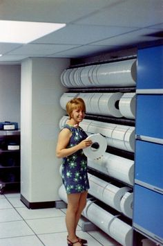 Used to help my aunt on Saturdays hanging tapes like this at her work