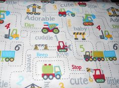 MadieBs Cars Trucks Road Construction Toddler Sheet Set or Crib Sheet Set Personalized