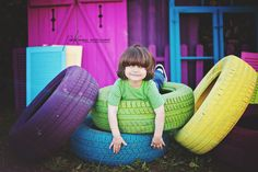 Painted Tires mini session... https://www.facebook.com/pages/Paige-Kimball-Photography/37689099979