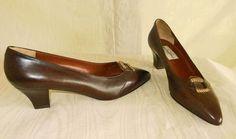Nos Diego Della Valle Sexy Contour Heel Pumps Chain Western Cowgirl Buckle Shoes #diegodellavalle #pumps