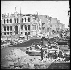 """Curiosities: More Rare Historical Photos - rebuilding after the great  Chicago fire 1873. """""""