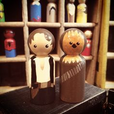Han Solo and Chewbacca Inspired Peg Doll People