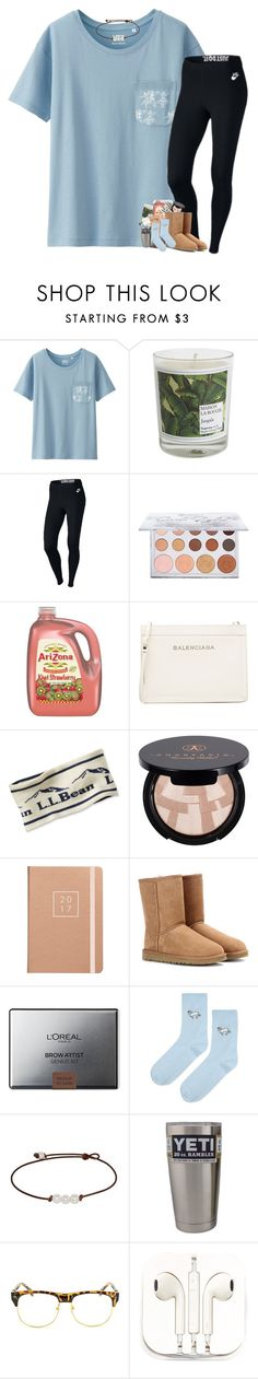 """""""&&;; it's 4:15 am.. The things I do for basketball """" by mmprep ❤ liked on Polyvore featuring Uniqlo, Maison La Bougie, NIKE, Balenciaga, L.L.Bean, Anastasia Beverly Hills, UGG Australia, L'Oréal Paris, Topshop and Chicnova Fashion"""