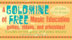 FREE MUSIC EDUCATIONGAMES-  Most of these games weredesigned for very young kids, but can still teach some great basics to people of all ages