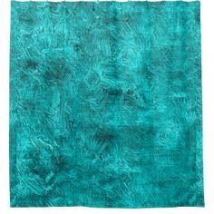 Lapis Oil Painting Color Accent Shower Curtain