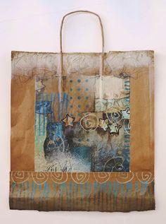 Collage art of Laura Lein-Svencner: make art on a brown paper bag!