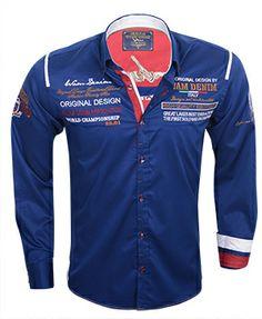 Wam Denim overhemd met print vind je online bij Italian-Style.nl