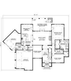 First Floor Plan of European   House Plan 82237