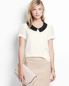 The contrast collar top from Ann Taylor is perfectly professional. Alas, I waited too long on this one...