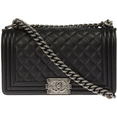 Chanel Boy Quilted Flap Bag Caviar Calfskin Leather (€4.310 ... : black chanel quilted bag - Adamdwight.com