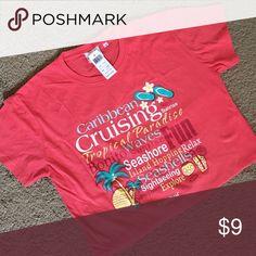 Carnival cruise Caribbean T-shirt Vacay T shirt. 100% cotton carnival Tops Tees - Short Sleeve