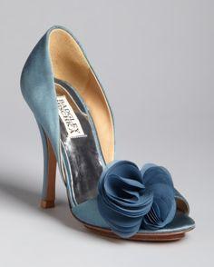 Shoes Pumps Badgley Mischka DOrsay Evening Pumps - Randall свадебные туфли #shoes #wedding #bride #blue