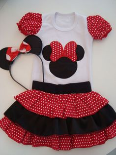 Fantasia Minnie Toddler Fashion, Toddler Outfits, Kids Outfits, Kids Fashion, Little Girl Dresses, Girls Dresses, Minnie Mouse Skirt, Boys And Girls Clothes, Baby Girl Birthday