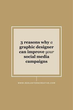 As a business owner it's clear to you that visual marketing is essential for your social media campaigns. Here are 3 reasons why you need a graphic designer ...