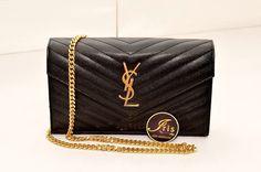 กระเป๋า YSL Clutch Black Caviar GHW รุ่นใหม่พร้อมส่งค่ะ!! - Iris Shop