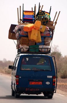 Africa Overloaded Transport Truck Carrying Workers Back