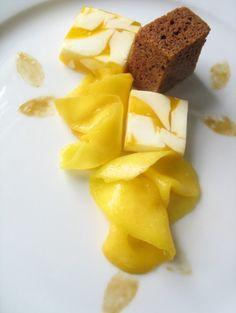rooibos butter cake  creamsicle marble  mango  tangerine caramel