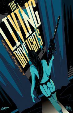 James Bond The Living Daylights art by Mike Mahle James Bond Books, James Bond Movie Posters, James Bond Movies, Movie Poster Art, Poster Series, Design Graphique, Art Graphique, Estilo James Bond, Alternative Movie Posters