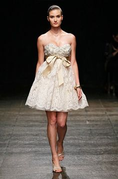 Short Wedding Dress, Mini, Designer Gowns || Colin Cowie Weddings