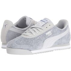 PUMA Roma Elemental (Glacier Gray) Women's Shoes ($65) ❤ liked on Polyvore